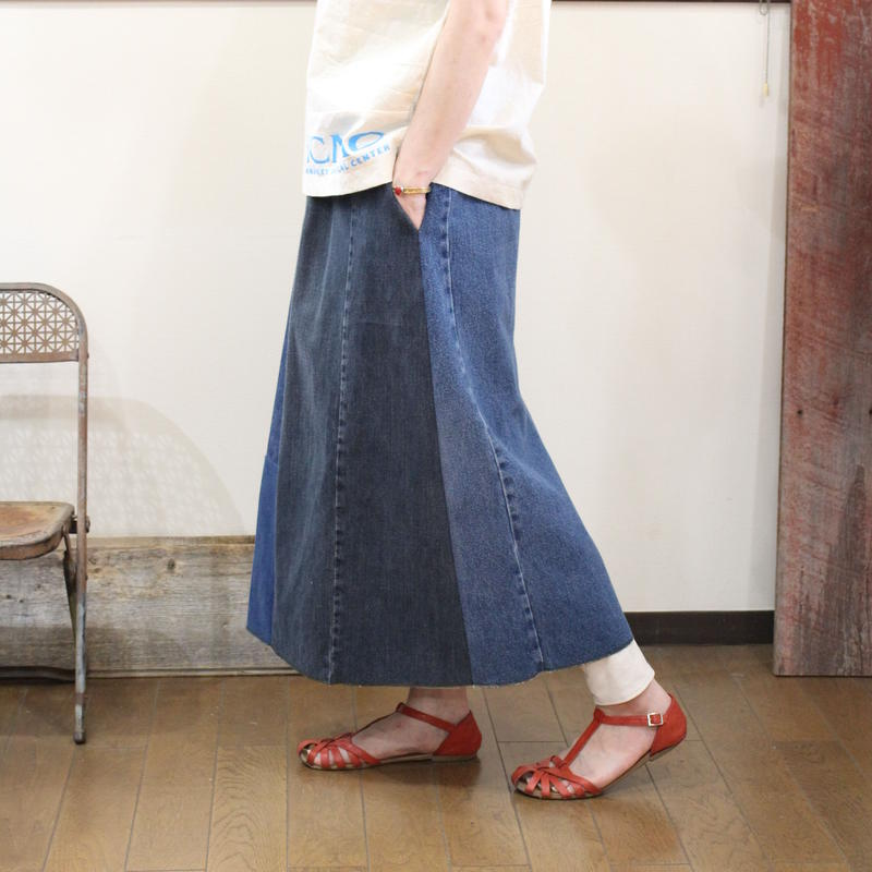 Denim Long Skirt②/フリーサイズ