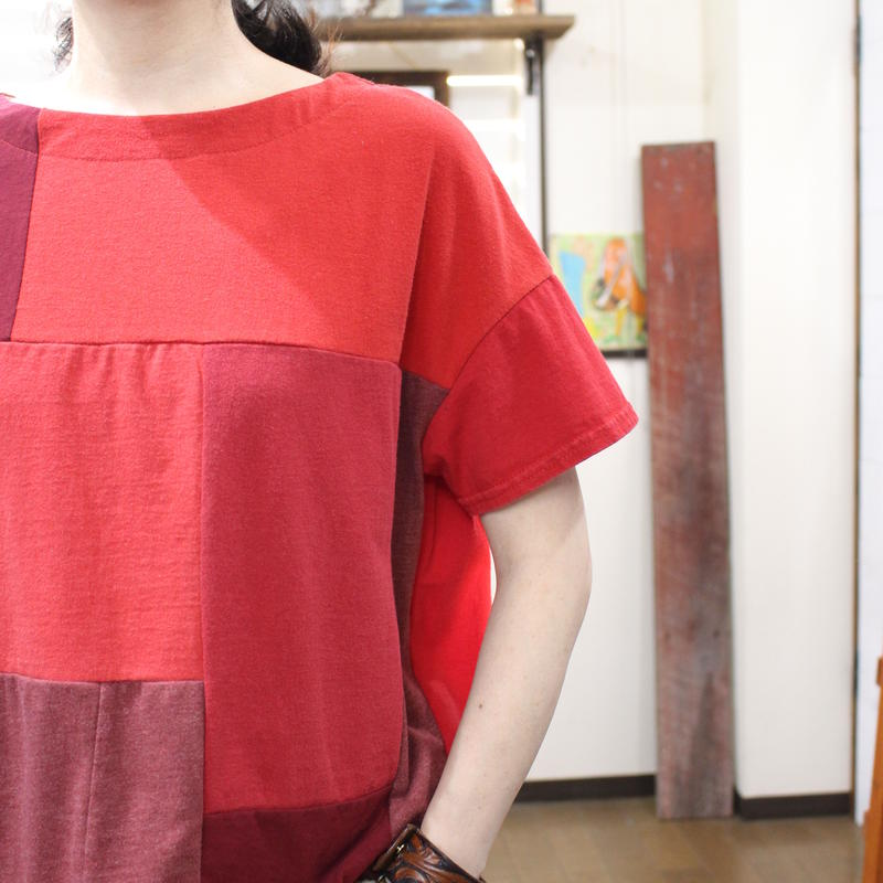 Patchwork Tee-Shirts ①/サイズフリー