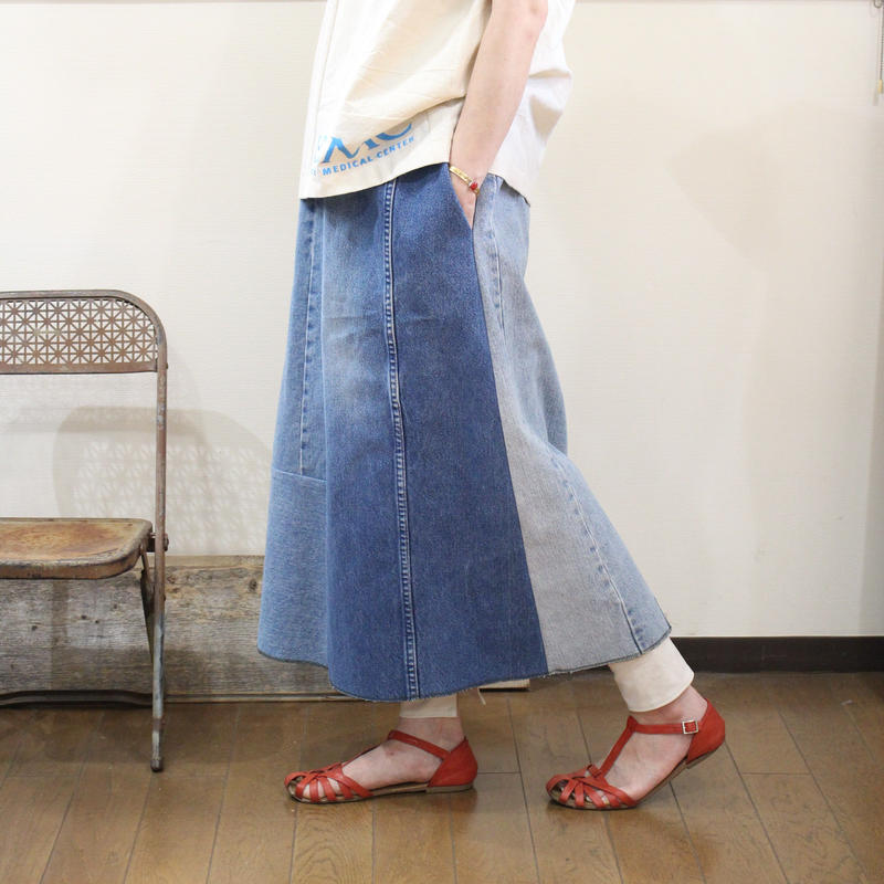 Denim Long Skirt①/フリーサイズ