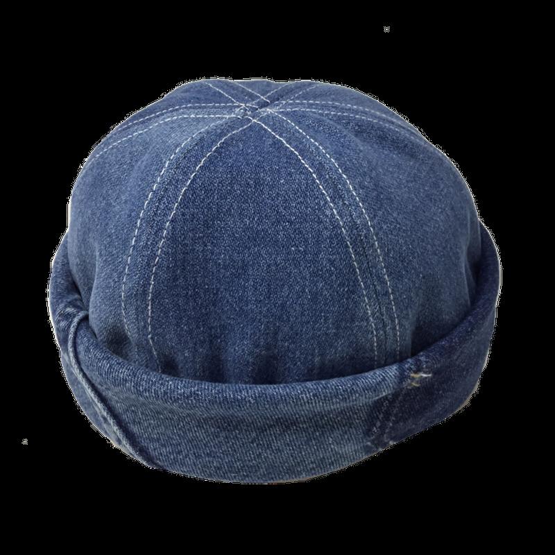Denim Roll Cap⑤/サイズM/ブルー