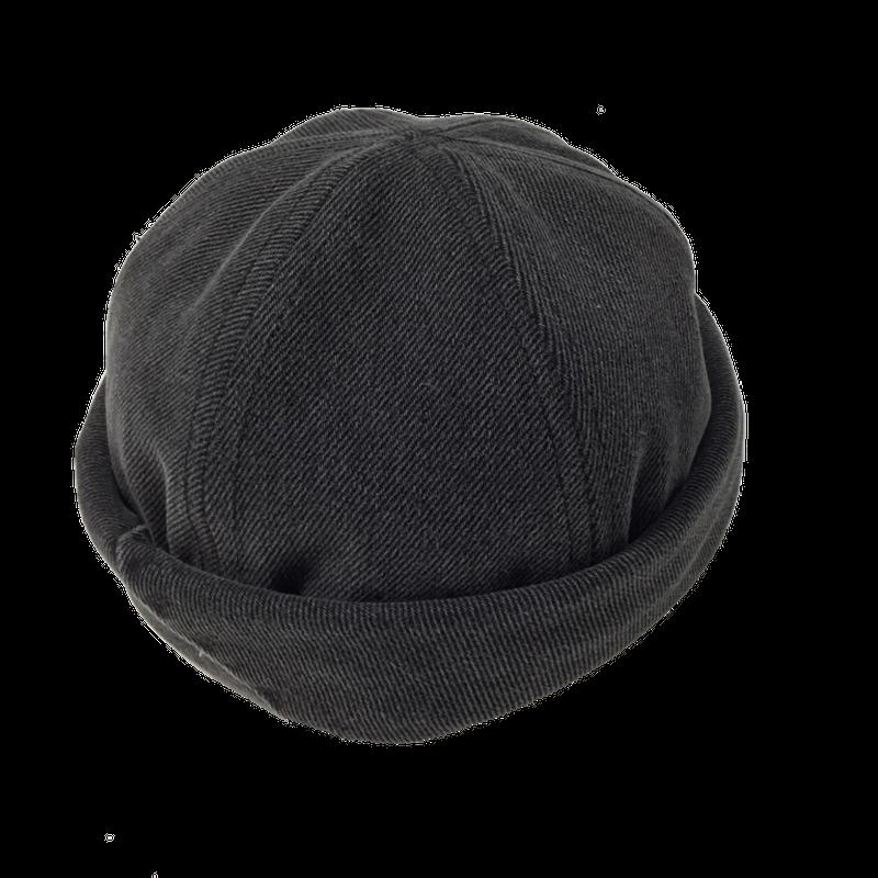Denim Roll Cap②/サイズM/ブラック