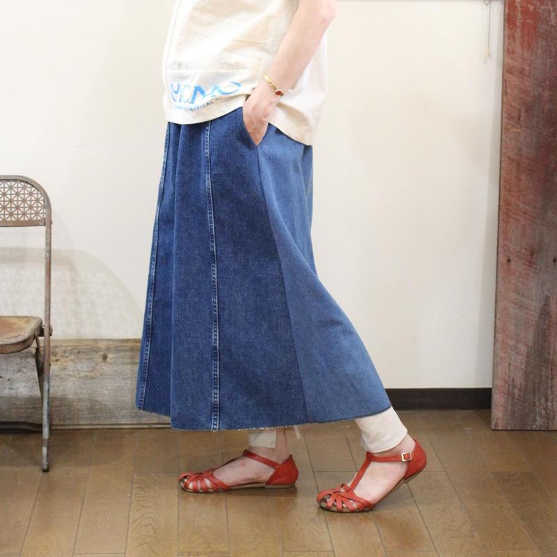 Denim Long Skirt⑤/フリーサイズ