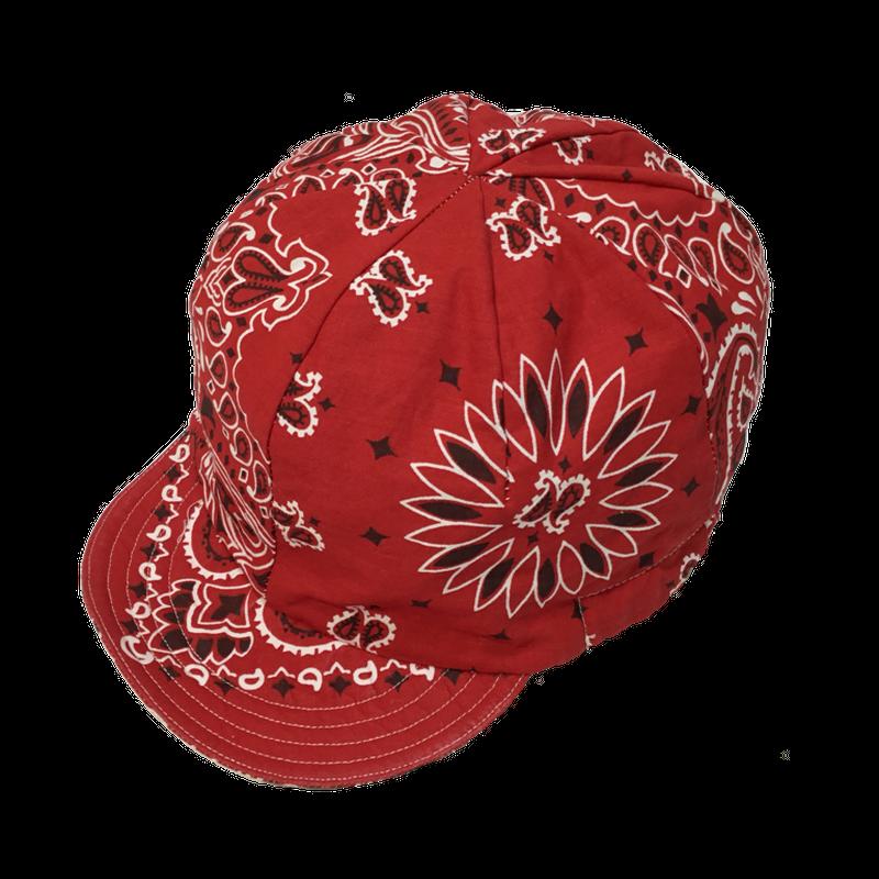 Bandana Cycling Cap / レッド / フリーサイズ