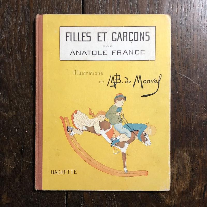 「FILLES ET GARCONS(1930年頃/リトグラフ)」Anatole France(アナトール・フランス) M.B. de Monvel(ブーテ・ド・モンヴェル)
