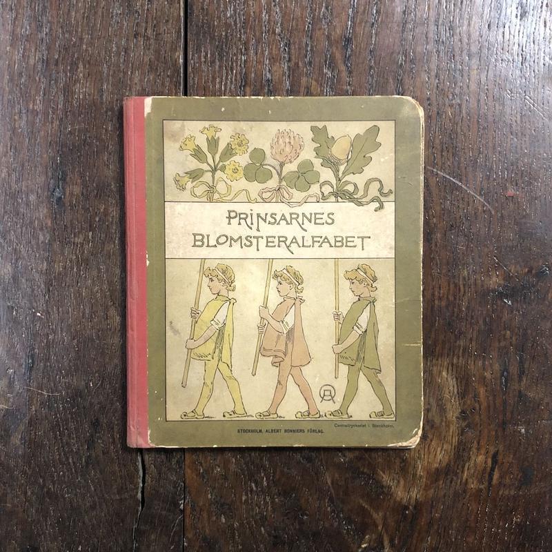 「PRINSARNES BLOMSTERALFABET(1892年もしくは1901年/リトグラフ)」Ottilia Adelborg(オッティリア・アーデルボリ)