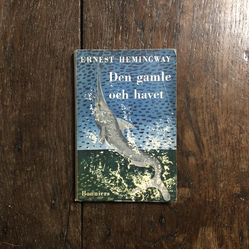「Den gamle och havet」Ernest Hemingway(アーネスト・ヘミングウェイ) オーレ・エクセル 装画