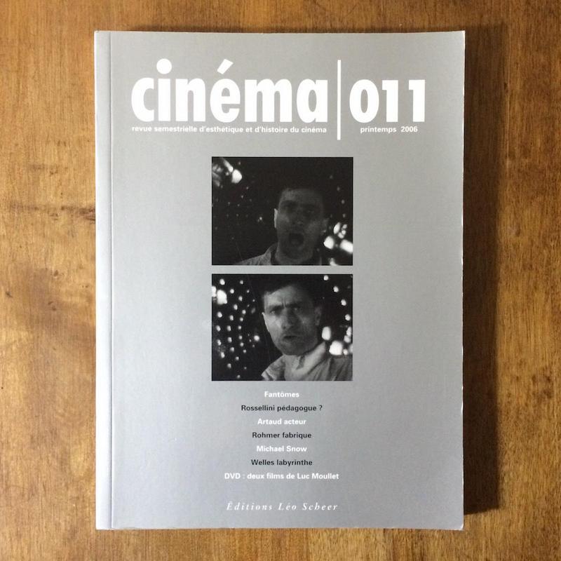 「cinema 011 DVD(リュック・ムレの2作品)付き」