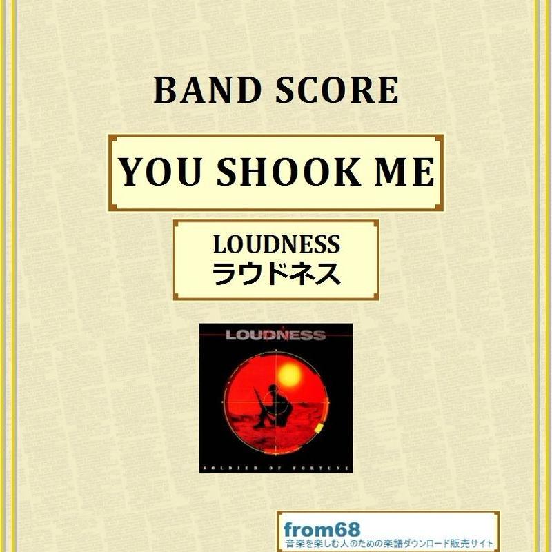 ラウドネス(LOUDNESS)  / YOU SHOOK ME  バンド・スコア(TAB譜) 楽譜