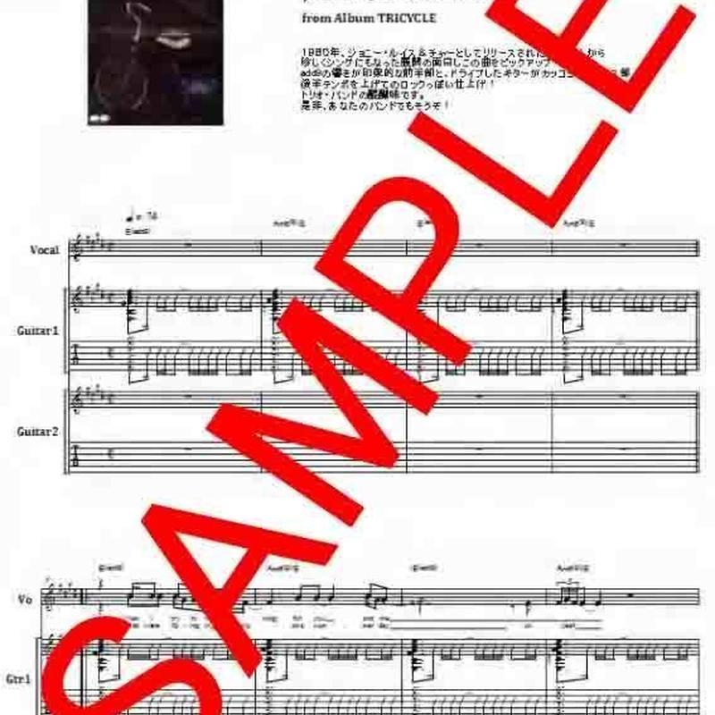 ジョニー・ルイス&チャー(JOHNNY, LOUIS & CHAR) / SONG IN MY HEART  バンド・スコア(TAB譜)