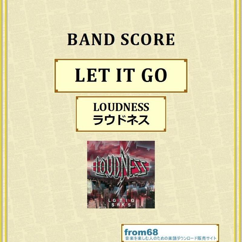 ラウドネス(LOUDNESS)  / LET IT GO  バンド・スコア(TAB譜) 楽譜