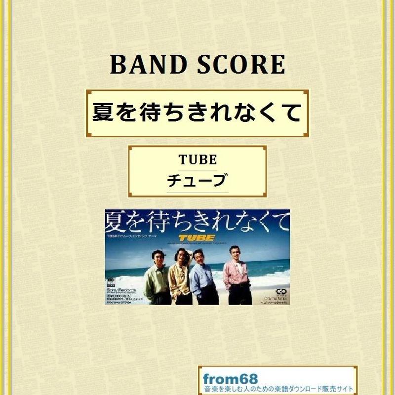 TUBE (チューブ)  / 夏を待ちきれなくて  バンド・スコア(TAB譜) 楽譜
