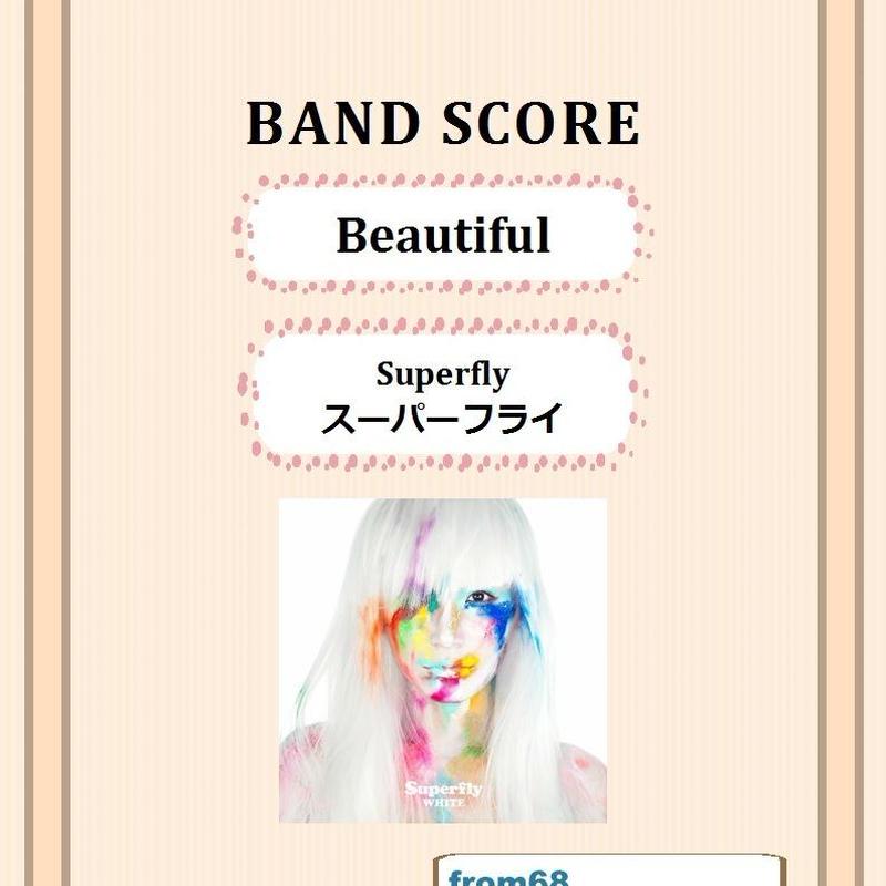 Superfly (スーパーフライ)    /  Beautiful    バンド・スコア (TAB譜) 楽譜