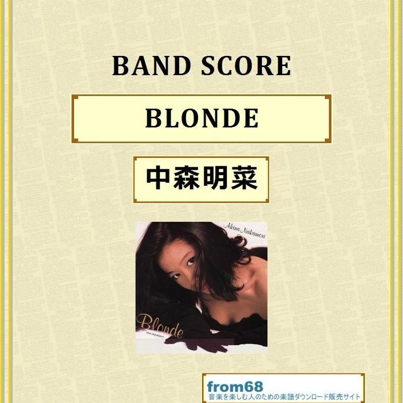 中森明菜 /  BLONDE ( ブロンド ) バンド・スコア (TAB譜)  楽譜