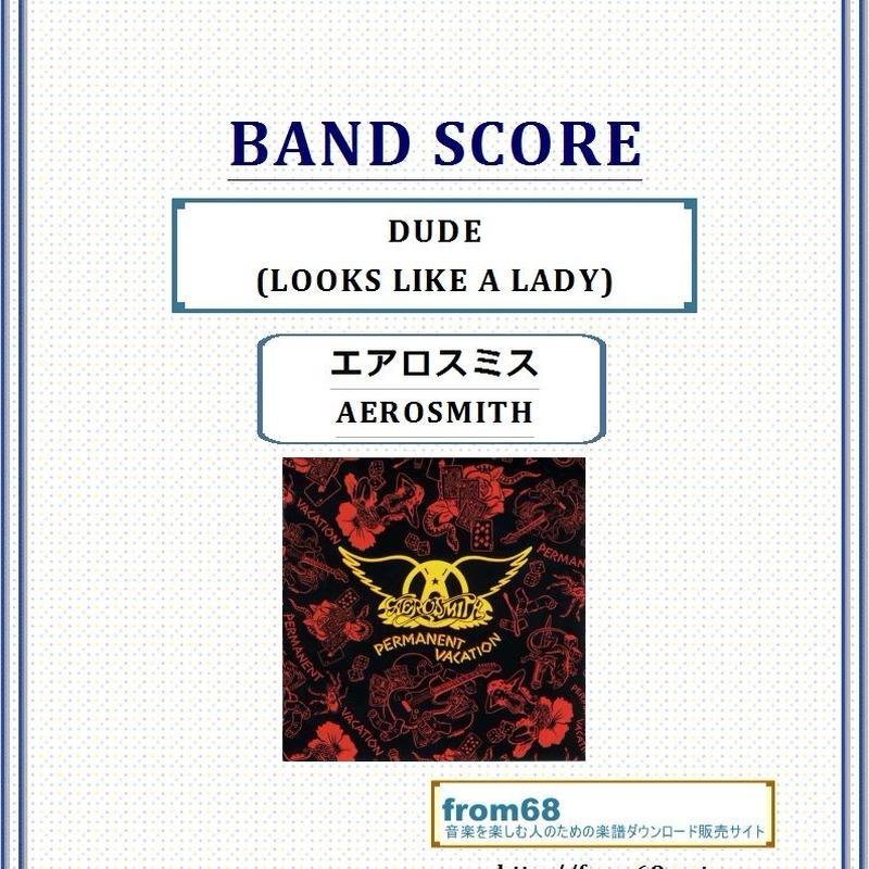 エアロスミス(AEROSMITH)  / DUDE(LOOKS LIKE A LADY)  バンド・スコア(TAB譜)  楽譜