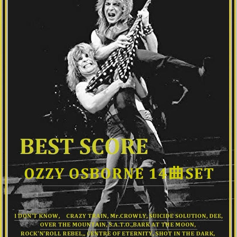【14曲SET】オジー・オズボーン  OZZY OSBOURNE)  BEST  OF (TAB譜) 楽譜