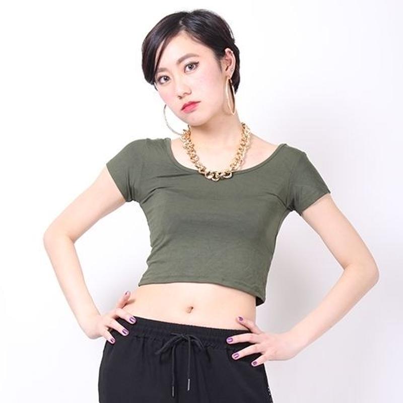 【LuxuryRose】シンプルミニ丈Tシャツ