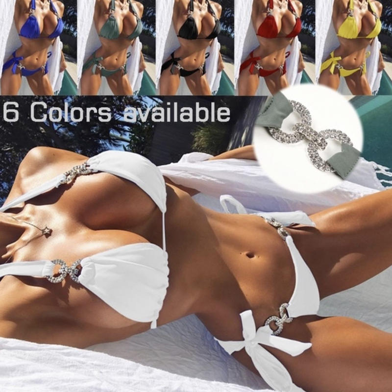 【LuxuryRose】キラキラ ラインストーン コネクター  ベーシック カラー ビキニ