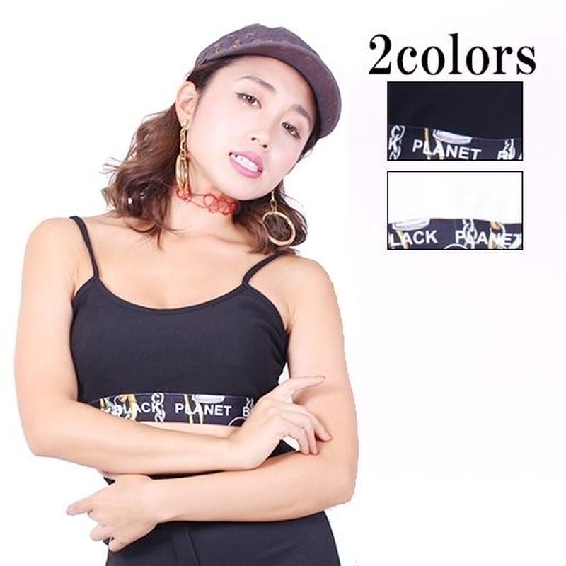 【LuxuryRose】ダンス/コスチューム衣装 ゴージャス柄ゴムのバックデザインブラトップ