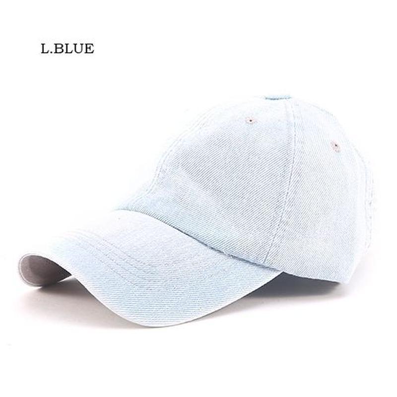 【LuxuryRose】ストーウオッシュ加工デニムキャップ