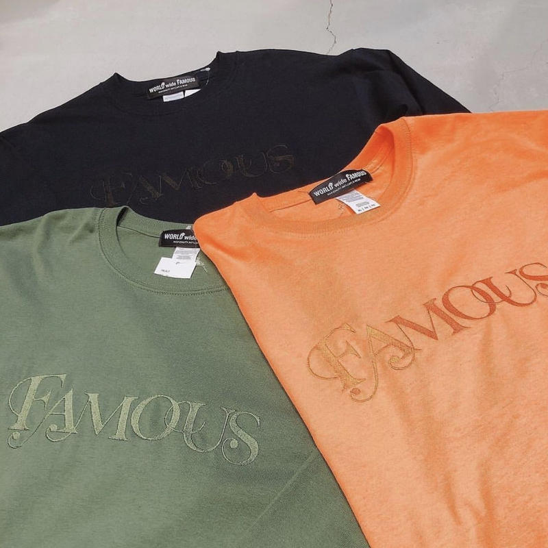 【World wide Famous】FAMOUS ロングスリーブ Tシャツ