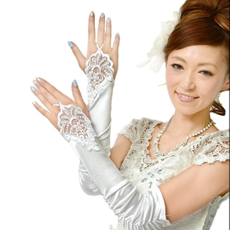 【LuxuryRose】レース刺繍ロンググローブ