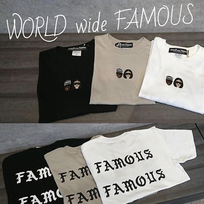 【World wide Famous】KIMYE   ロゴ BACK  Tシャツ