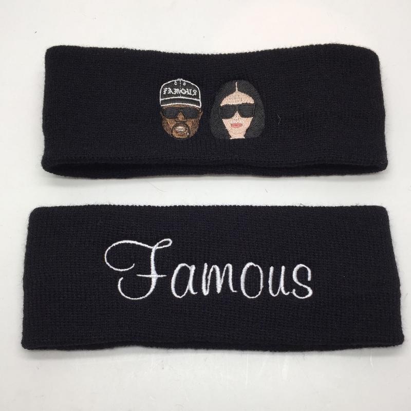 【World wide Famous】KIMYE・FAMOUSロゴ ヘアターバン