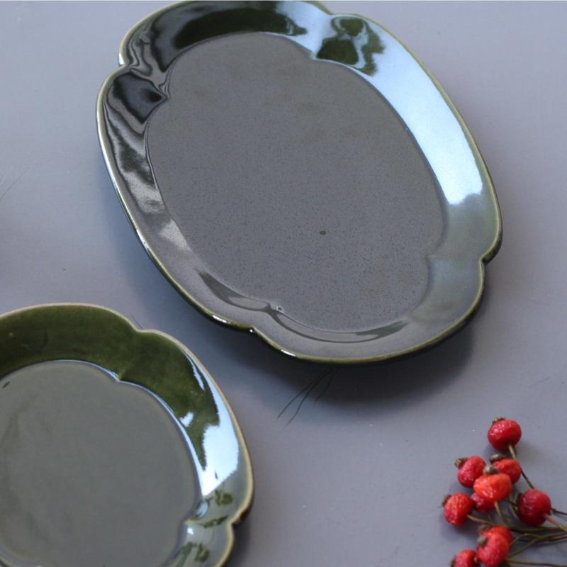 lefz-sm-37  リアン 焼物皿(織部)
