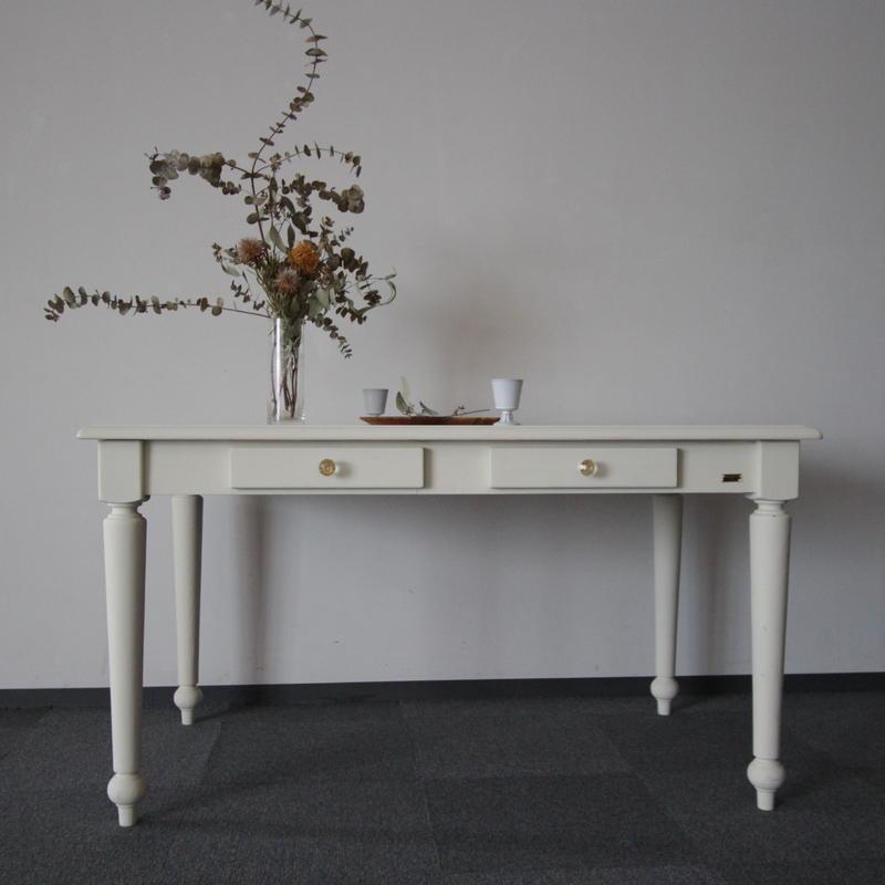 リユース家具 Lv-C0002 シャルドネ ダイニングテーブル(白塗装)