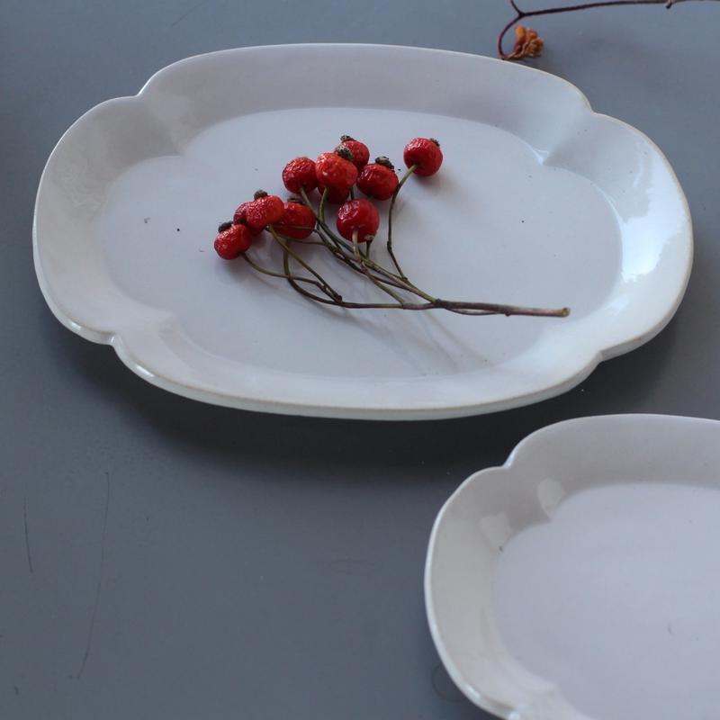 lefz-sm-38 リアン 焼物皿(白)