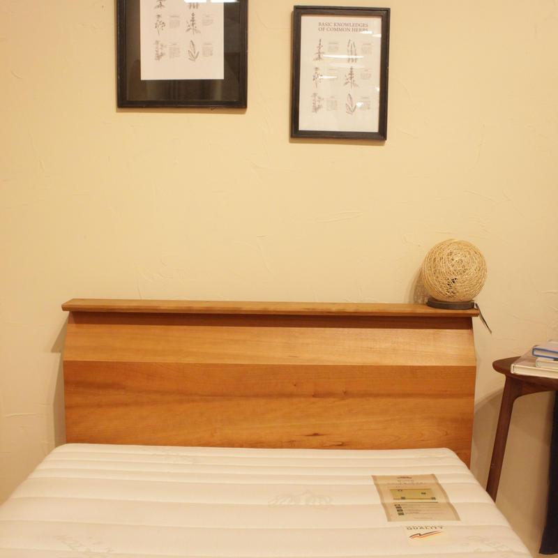 関西地区限定!現品のみ対象 lv_letb-002 kuhl(キュール) ベッド(シングルサイズ)/マットレス付 ブラックチェリー材