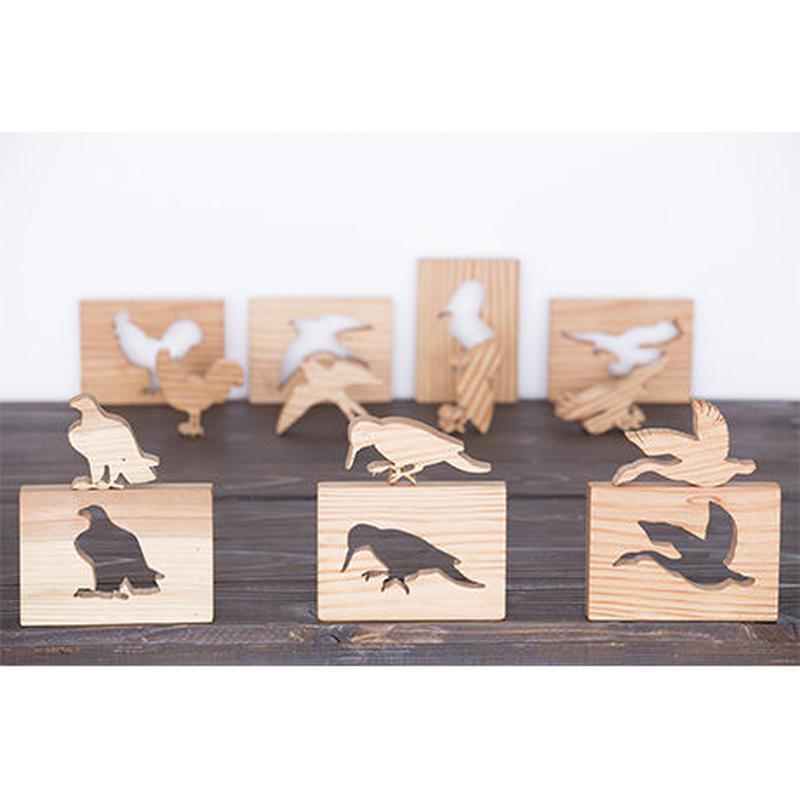 【ウッドパズル】羽を持つ生き物