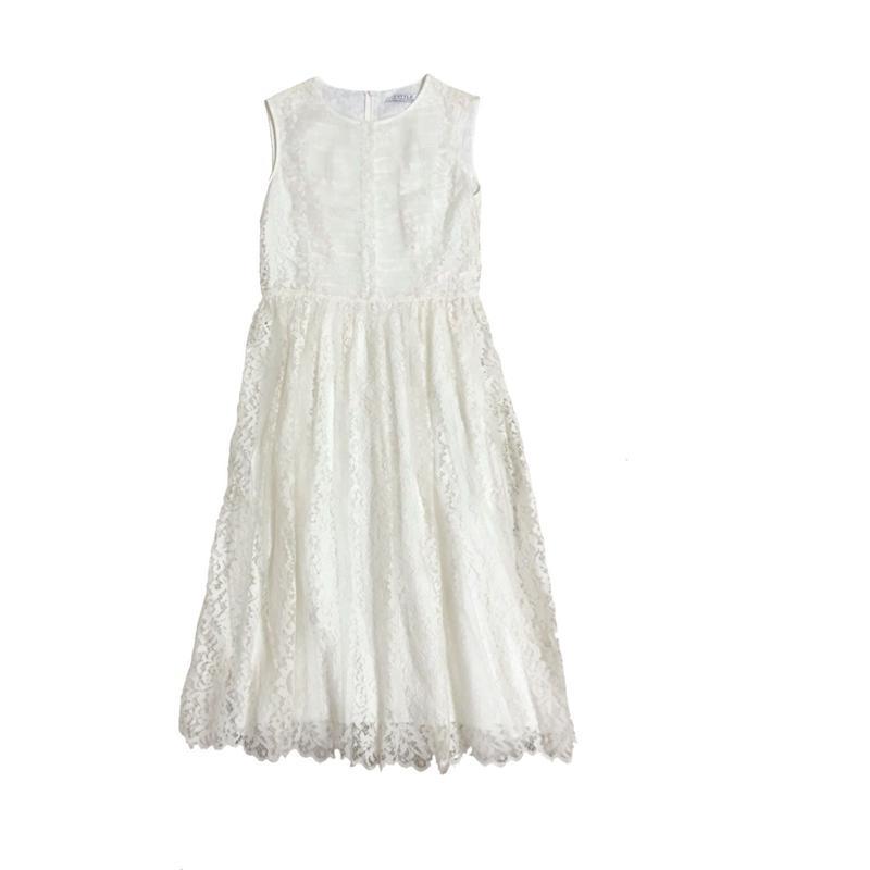 Sleeveless Lace Long Dress ノースリーブレースワンピース