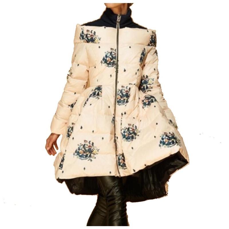 Down-filled Puffer Dress Coat コートドレス