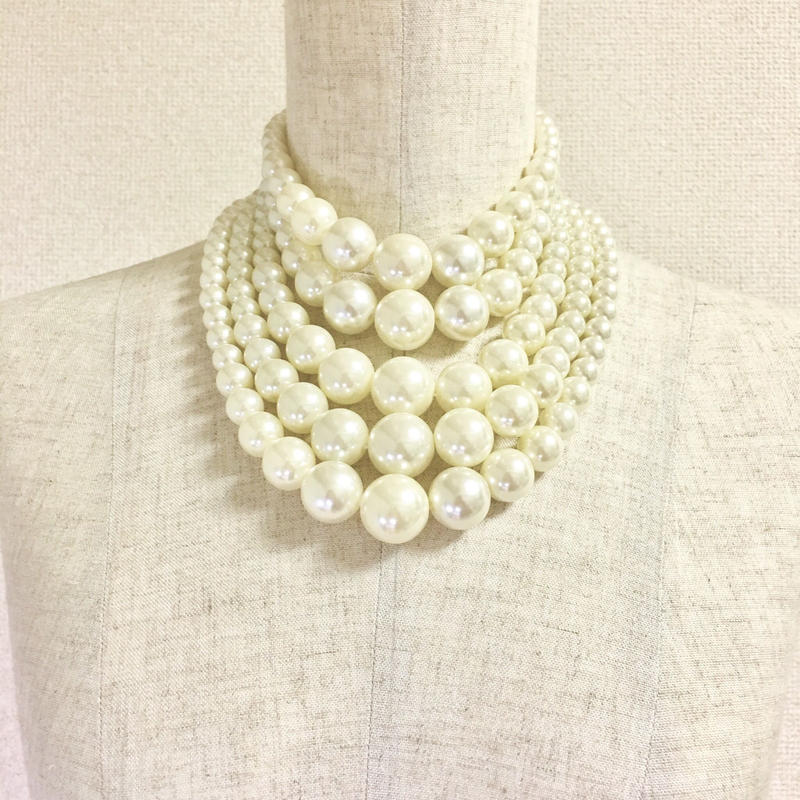 Eco Pearl Necklace パール調ネックレス