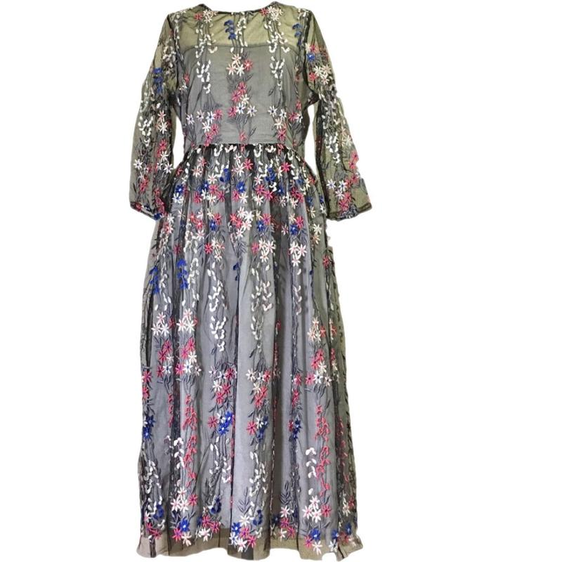 Embroidery Lace Dress  刺繍チュールドレス