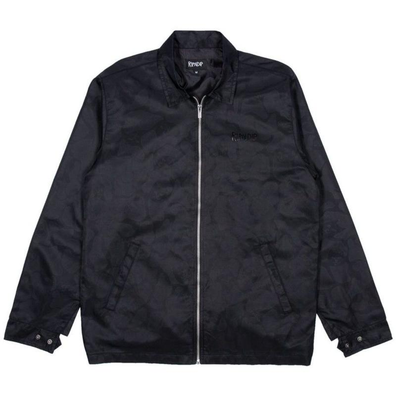 RIPNDIP Black Out Nylon Jacket (Black out camo)