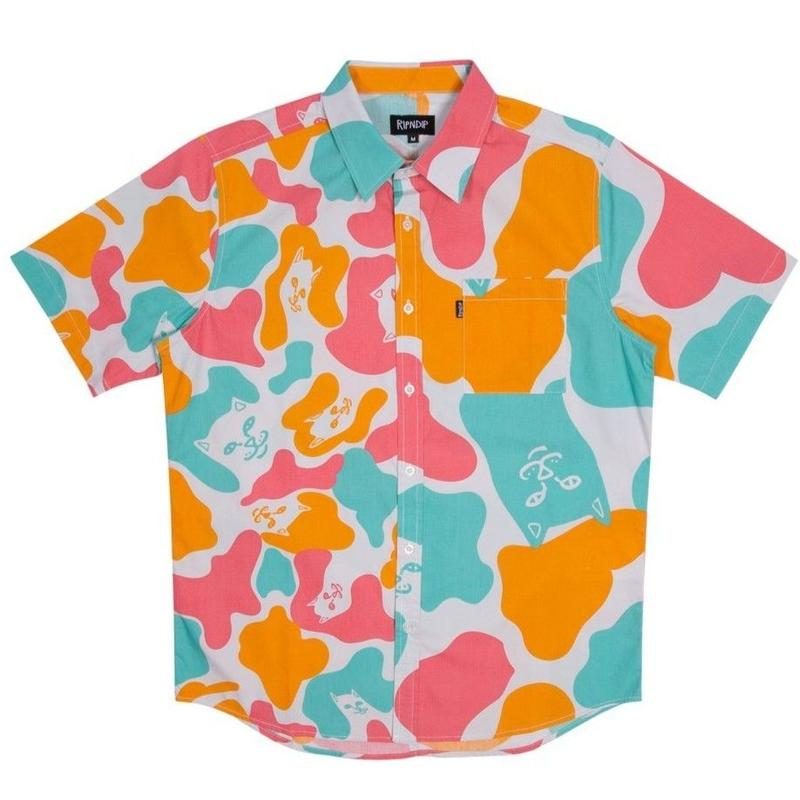 RIPNDIP Oversize Camo Button Up (Multi)