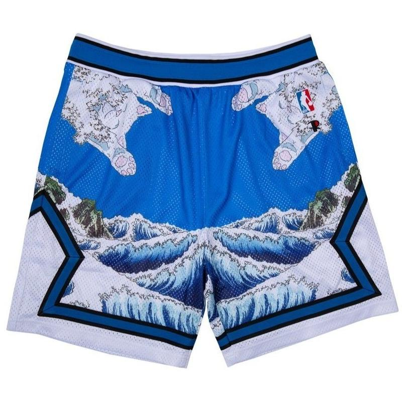 RIPNDIP Great Wave Mesh Basketball Shorts (Blue)