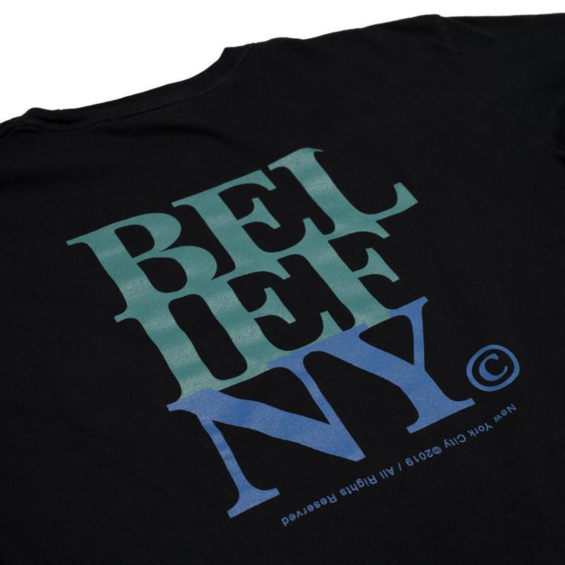 BELIEF NYC Stacked L/S Pocket Tee - Black