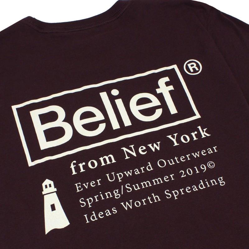 BELIEF NYC Nautical Tee - Dark Oxblood