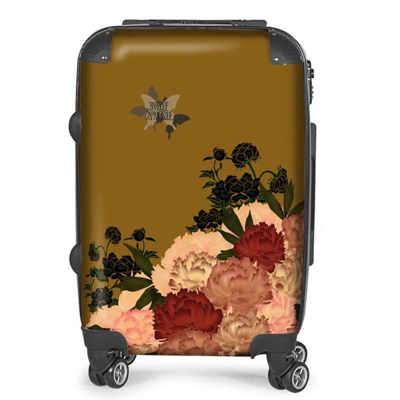 Japanese style Peony decoration Suitcase