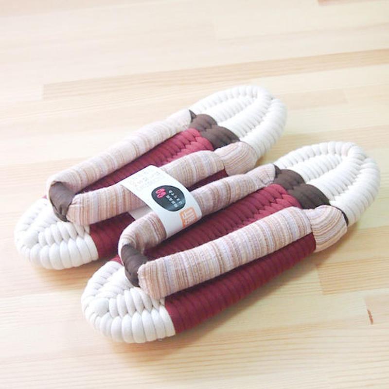 ふっくら布ぞうり/しじら織り 優:アイボリー&ブラウン 25〜28cm