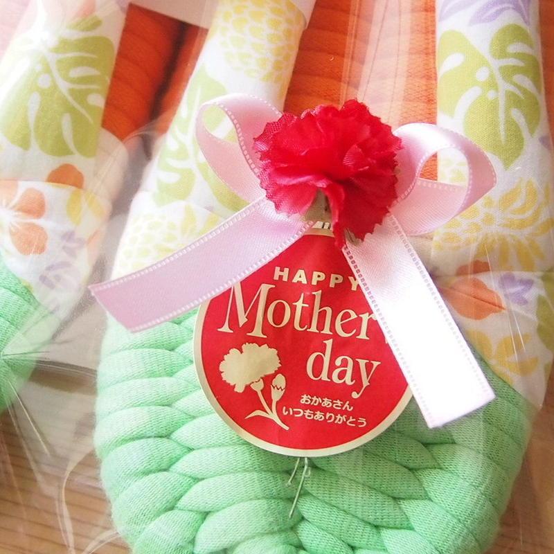 【無料】母の日ステッカー&カーネーション リボン