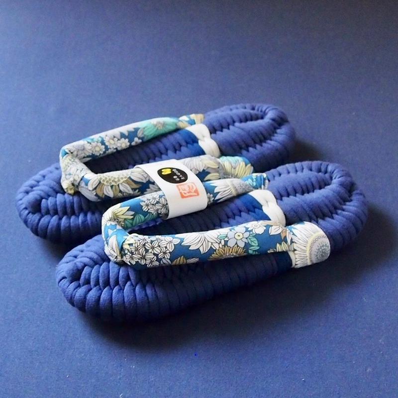 チャリティ布ぞうり for 西日本豪雨災害支援 / フラワーB:M