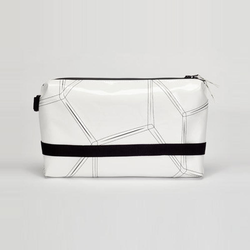 014 CLUTCH BAG _white×black