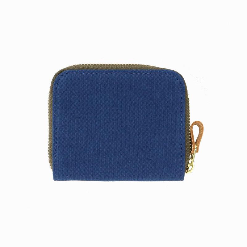 15 ミニマム財布 染色 ブルー