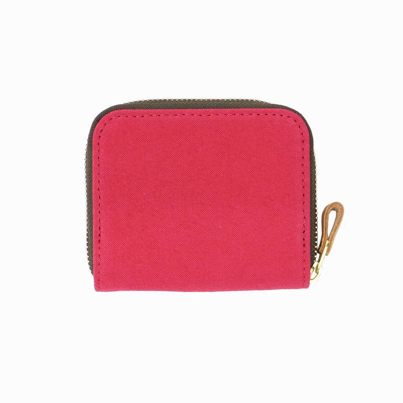 15 ミニマム財布 染色 ピンク