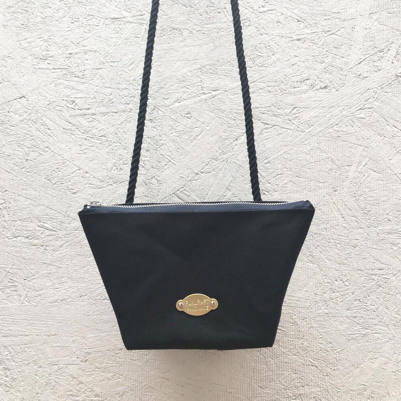 FUKURAFT / Japanese Canvas Shoulder Bag / BLK (FR-0007)