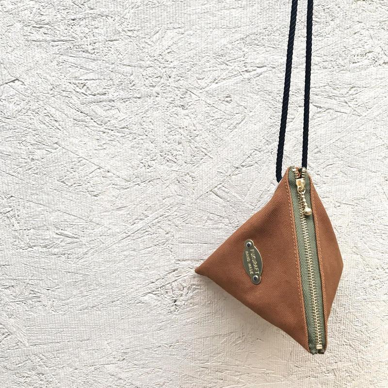 FUKURAFT / Japanese Canvas Triangle Shoulder Bag  / CML (FR-0006)